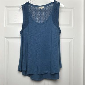 Umgee | Lace And Fabric Tank